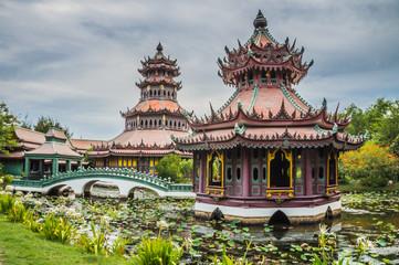The Phra Kaew Pavilion at ancient city, Samutprakan province, Thailand.