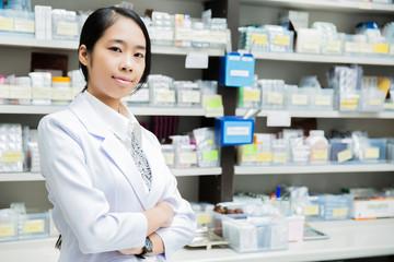 Asian women pharmacists