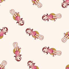swimmer , cartoon seamless pattern background