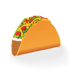 Taco vector illustration