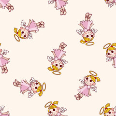 angel , cartoon seamless pattern background