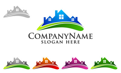 real estate, building, house, property, home, houses, flats, construction, architecture, logo, vector 20
