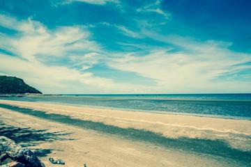 Tropical beach of Thailand. Retro style photo.