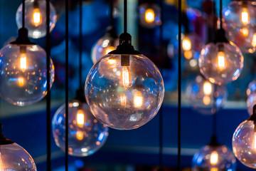 Luxury retro lamp decor.