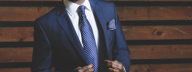 Businessman in a smart suit.