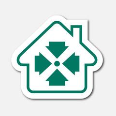 Logo maison et point de rassemblement.