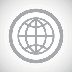 Grey globe sign icon