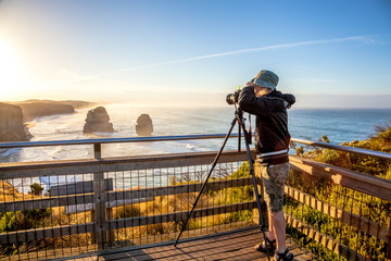 Photographer at Twelve Apostles