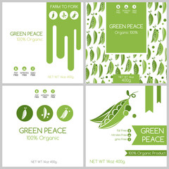 Green peas pack set.