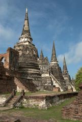 tailandia,ayutthaya pagodas vertical