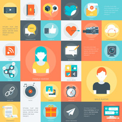 Social Media Stylish, minimal and fully editable set of social v