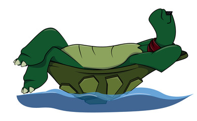 Enjoy Turtle cartoon illustration
