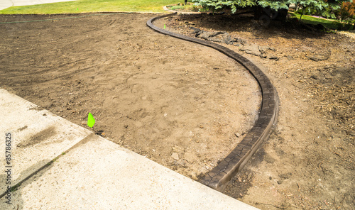 Landscaping Concrete Curb Stock Photo And Royalty Free Images On Pic 85786325