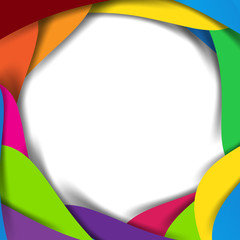 Abstract vector rainbow background overlap layer and shadow - ve