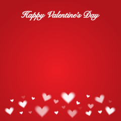 white hearts on red backround greeting valentine's day card