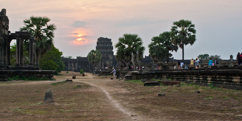 Sunset in Cambodia