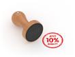 Runder 10 Prozent Rabatt Stempel