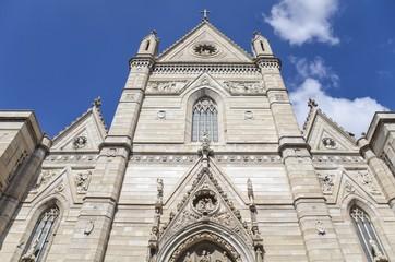 Naples Cathedral facade, Italy