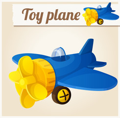 Toy plane. Cartoon vector illustration. Series of children's