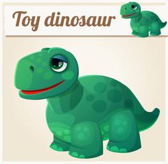 Toy dinosaur 4. Cartoon vector illustration. Series of children