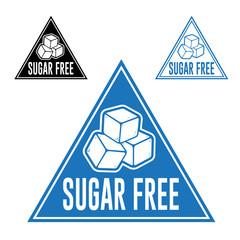 Sugar Free Triangle Icon Seal