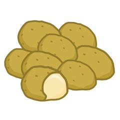 potato isolated illustration