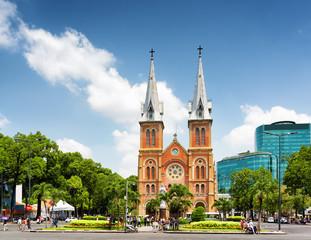 Saigon Notre-Dame Cathedral Basilica in Ho Chi Minh, Vietnam