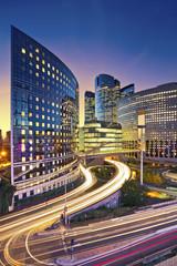 Image of office buildings in modern part of Paris