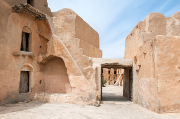 South of Tunisia, Tataouine,the Ksar Ouled Soltane,ancient berber fortified granary