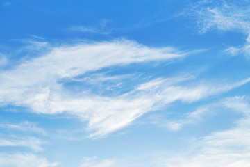 Cirrus clouds in sky