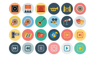 Multimedia Flat Icons 3