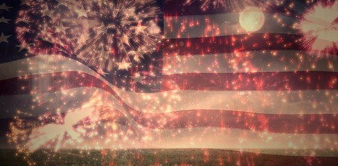 Digitally generated united states national flag