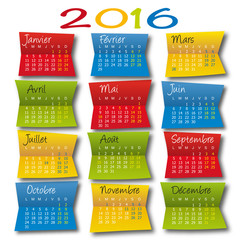 2016 CALENDRIER Post It