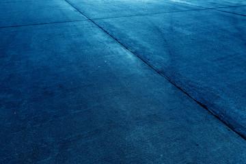 Concrete floor aircraft runaway background blue