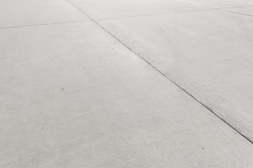 Concrete floor aircraft runaway background