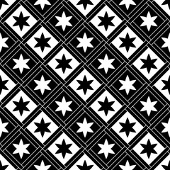 Gothic seamless pattern. Elements in a medieval style. Ornament for a tiles and mosaics. Vector illustration