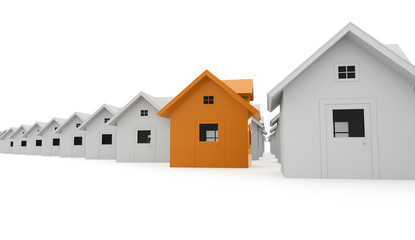 Houses business concept one