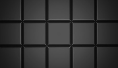 Black abstract cubes background
