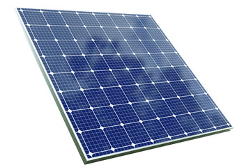 solar cell panel with clipping path