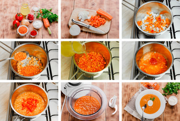 step by step recipe for cooking soup mashed orange lentils
