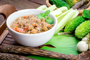 Thai cuisine nam prik