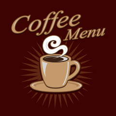 Vintage Retro Coffee Menu Design