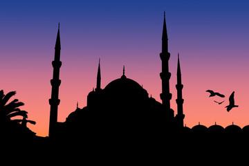 Moschea silhouette