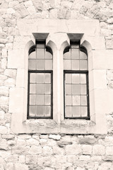 old windon in england london brick and glass the wall