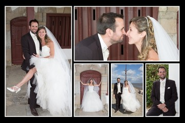 Collage of several photos for wedding 's day