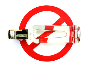 sign stop alcohol isolate a white background