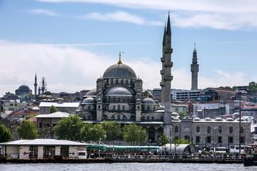 Mosque near Galata bridge, Istanbul, Turkey.
