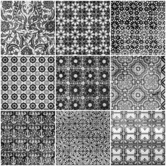 Fotomurales - Background collage. Black and white tiles