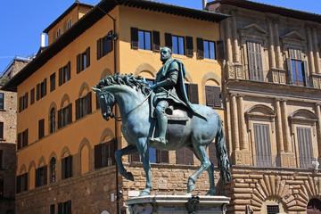Cosimo I de Medici statue in florence