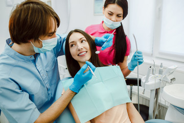 The girl on reception at the dentist